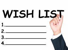 Write wish list for planning on whiteboard